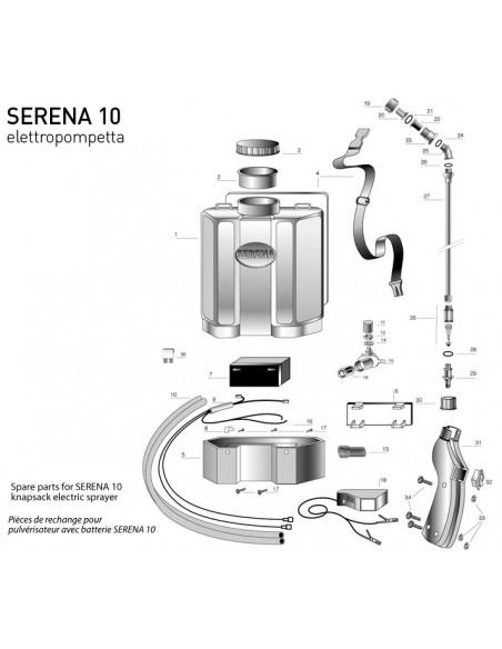 Ψεκαστήρας Ηλεκτρικός Serena 16 10 λιτ.