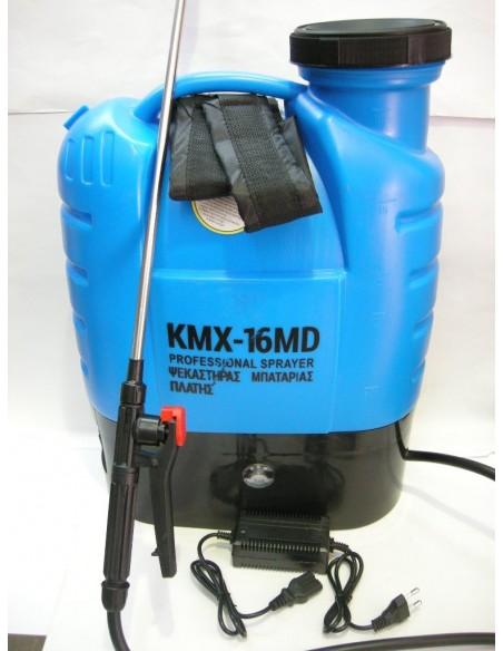 Ψεκαστήρας Πλάτης Μπαταρίας Επαναφορτιζόμενος 16L με Ρυθμιστή Πίεσης και ένδειξη Μπαταρίας KMX - 16 MD